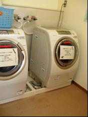 ドラム式洗濯乾燥機の様子