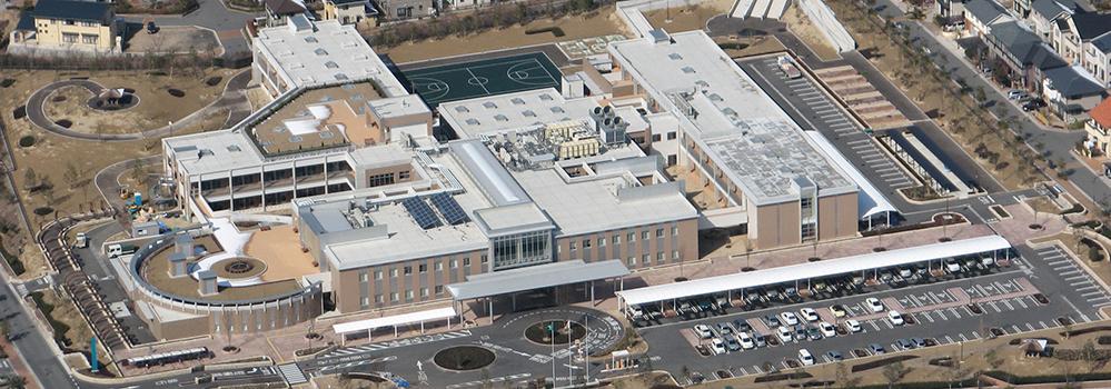 広島市立リハビリテーション病院 航空写真