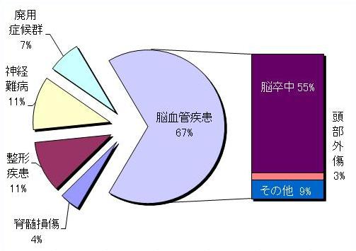 疾患別入院患者割合グラフ