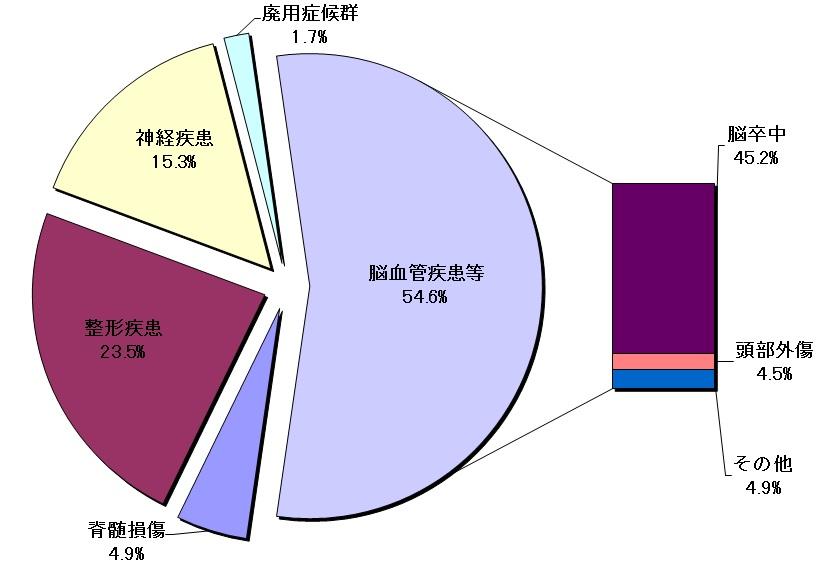 疾患別入院患者割合のグラフ